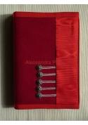 Taccuino/rubrica/quaderno - Modello tessuto moirè rosso