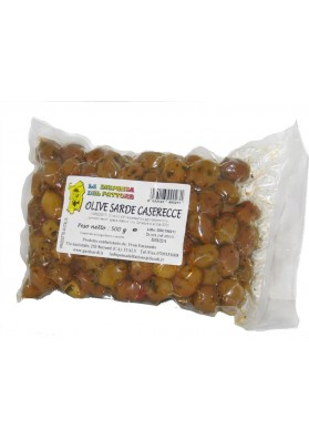 "Sardinian Green Olives ""Caserecce"" - La dispensa del fattore"