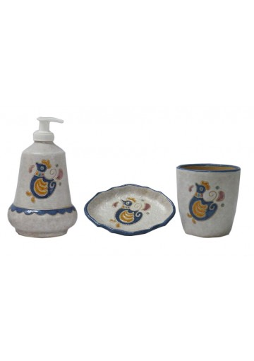 Set bagno in ceramica sarda - Kerapinta - Cuor di Sardegna