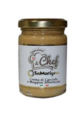 Crema di carciofo sardo con muggine affumicato - Sa Marigosa