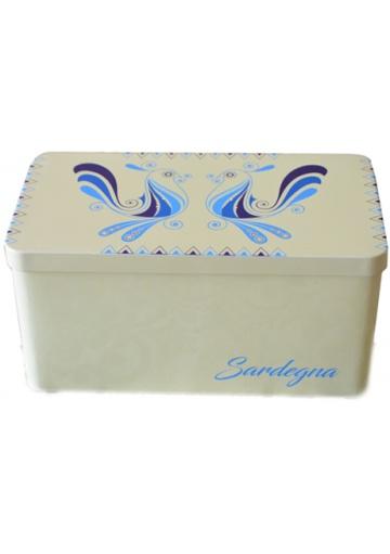 Scatole in latta decorate immagini della Sardegna