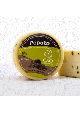Pecorino cheese with black pepper - Cao