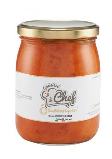 Sardinian hot red pepper's cream spicy 500 g - Sa Marigosa