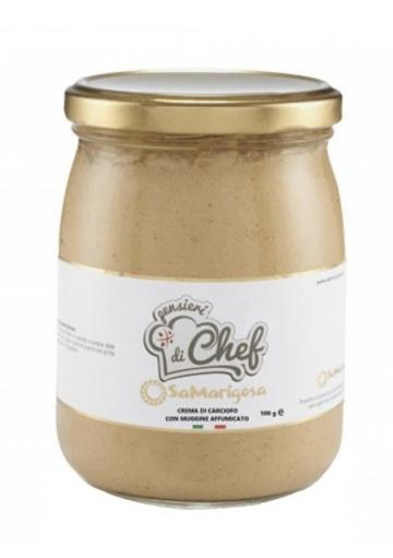 Crema di carciofo con muggine affumicato 500 g - Sa Marigosa