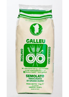 Ground durum wheat semolina - Galleu