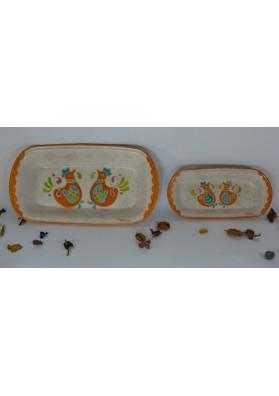 Vassoi sardi color senape ceramiche Kerapinta
