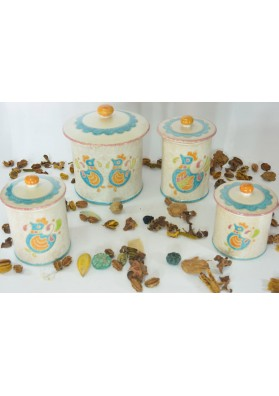Set biscottiere e barattoli ceramiche Kerapinta
